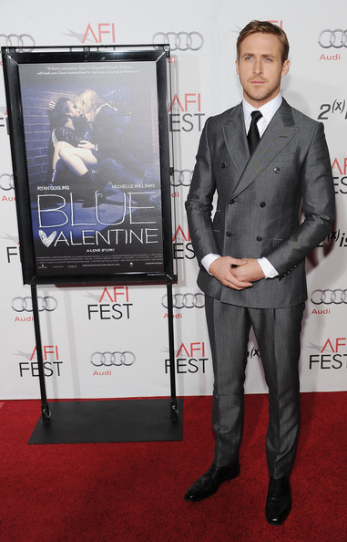 "Actor Ryan Gosling arrives at the ""Blue Velvet"" screening during AFI FEST 2010 presented by Audi held at Grauman's Chinese Theatre on November 6, 2010 in Hollywood, California."