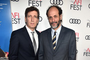 """Peter Spears (L) and Luca Guadagnino attend the screening of """"Call Me By Your Name"""" at AFI FEST 2017 Presented By Audi at TCL Chinese Theatre on November 10, 2017 in Hollywood, California."""