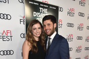 """Michael Weber (R) and Aly Sands attend the screening of """"The Disaster Artist"""" at AFI FEST 2017 Presented By Audi at TCL Chinese Theatre on November 12, 2017 in Hollywood, California."""