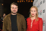 Brady Corbet (L) and Mona Fastvold attend the Screening of 'Vox Lux' at AFI FEST 2018 Presented By Audi at the Egyptian Theatre on November 9, 2018 in Hollywood, California.