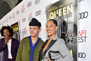 "Evan Ross and Tracee Ellis Ross attend the ""Queen & Slim"" Premiere at AFI FEST 2019 presented by Audi at the TCL Chinese Theatre on November 14, 2019 in Hollywood, California."