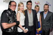 (L-R) Actors Andrew Dice Clay, Cate Blanchett, Bobby Cannavale, Ali Fedotowsky and Peter Sarsgaard arrive at the premiere of 'Blue Jasmine' hosted by AFI & Sony Picture Classics at AMPAS Samuel Goldwyn Theater on July 24, 2013 in Beverly Hills, California.