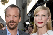 Actors Peter Sarsgaard and Cate Blanchett arrive at the premiere of 'Blue Jasmine' hosted by AFI & Sony Picture Classics at AMPAS Samuel Goldwyn Theater on July 24, 2013 in Beverly Hills, California.