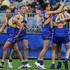 Tom Cole Dom Sheed Photos - Jamie Cripps of the Eagles celebrates after scoring a goal during the round 18 AFL match between the West Coast Eagles and the Western Bulldogs at Optus Stadium on July 22, 2018 in Perth, Australia. - AFL Rd 18 - West Coast vs. Western Bulldogs