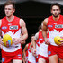 Josh Kennedy Luke Parker Photos - Luke Parker of the Swans (L) and Josh Kennedy leads the team out during the round 21 AFL match between the Melbourne Demons and the Sydney Swans at Melbourne Cricket Ground on August 12, 2018 in Melbourne, Australia. - AFL Rd 21 - Melbourne vs. Sydney