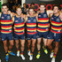 Taylor Walker Josh Jenkins Photos - Crows players celebrate in the rooms after the round four AFL match between the Adelaide Crows and the Sydney Swans at Adelaide Oval on April 16, 2016 in Adelaide, Australia. - AFL Rd 4 - Adelaide v Sydney