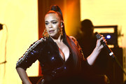 Faith Evans performs at AHF's free World AIDS Day 2019 concert hosted by Primetime Emmy-award winner Billy Porter ('Pose') at the historic Wilshire Ebell Theatre on Sunday, December 1, 2019 in Los Angeles, CA. The event featured performances by Faith Evans, Daya and Miss Shalae and coincided and also served as a 10th anniversary celebration of IMPULSE GROUP, an AHF supported global organization with more than 500 volunteers on five continents whose purpose is to engage, support and connect gay men.