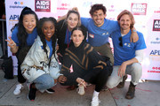 (L-R) Sherry Cola, Zuri Adele, Emma Hunton, Maia Mitchell, Tommy Martinez and Josh Pence attend AIDS Walk Los Angeles 2019 on October 20, 2019 in Los Angeles, California.