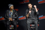Seth Gilliam and Ross Marquand speak onstage during a panel for AMC's The Walking Dead Universe including AMC's flagship series and the untitled new third series within The Walking Dead franchise at Hulu Theater at Madison Square Garden on October 05, 2019 in New York City.