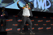 Josh McDermitt dances on stage as AMC presents a special advanced screening of the Season 10 premier of 'The Walking Dead' at Hulu Theater at Madison Square Garden on October 05, 2019 in New York City.