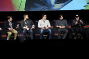 (L-R) Scott Gimple, Robert Kirkman, Dave Alpert, Norman Reedus, and Jeffrey Dean Morgan speak onstage during a panel for AMC's The Walking Dead Universe including AMC's flagship series and the untitled new third series within The Walking Dead franchise at Hulu Theater at Madison Square Garden on October 05, 2019 in New York City.