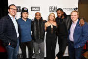 Charlie Collier, Josh McDermitt, Seth Gilliam, Kim Dickens, Colman Domingo and Stefan Reindhart attend the AMC Survival Sunday The Walking Dead/Fear the Walking Dead at AMC Empire on April 15, 2018 in New York City.