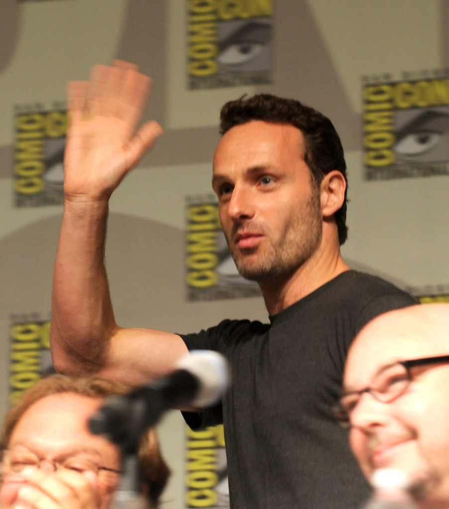 andrew lincoln pictures amc s the walking dead at comic con