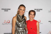 Tennis Australia chair Jayne Hrdlicka (R) and Caroline Wozniacki of Denmark attend the AO Inspirational Series Lunch during the Australian Open 2020 at The Glasshouse at Melbourne Park on January 30, 2020 in Melbourne, Australia.