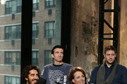 """Actor Dev Patel, director Neill Blomkamp, and actors Sharlto Copley and Sigourney Weaver attend the AOL BUILD Speaker Series: """"Chappie"""" at AOL Studios In New York on March 4, 2015 in New York City."""