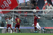 Andrea Lazzari of Bari scores his team's second goal during the Serie B match between AS Livorno and FC Bari at Stadio Armando Picchi on April 9, 2016 in Livorno, Italy.