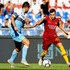 Stefan El Shaarawy Photos - Franceco Acerbi of SS Lazio competes for the ball with Stefan El Shaarawy of AS Roma during the Serie A match between AS Roma and SS Lazio at Stadio Olimpico on September 29, 2018 in Rome, Italy. - AS Roma vs. SS Lazio - Serie A