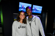 Julia Gorges (L) and Gael Monfils attend the ASICS Tennis 5th Avenue Flagship Event on August 23, 2019 in New York City.
