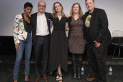 """(L-R)  Tamron Hall, Matthew Bershadker, Kristen Collins, Erin Wanner, and Kenn Bell pose onstage during the ASPCA & Animal Planet Host Exclusive Premiere Screening Of """"Second Chance Dogs"""" In Honor Of ASPCA's 150th Anniversary on April 10, 2016 in New York City."""