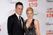 Brian Gallagher and actress Megan Hilty attend ASPCA 19th Annual Bergh Ball honoring Drew Barrymore, hosted by Nathan Lane wiith music by Mark Ronson at the Plaza Hotel on April 14, 2016 in New York City