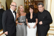 (L-R) Matt Bershadker, Laura Zambelli Barket, Mindy Fortin, and Isaac Mizrahi attend the 21st Annual Bergh Ball hosted by the ASPCA at The Plaza Hotel on April 19, 2018 in New York City.
