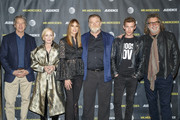 Creator  David E. Kelley, Holland Taylor, Kelly Lynch, Brendan Gleeson, Harry Treadaway and director Jack Bender attend a FYC Screening of Mr. Mercedes at Hollywood Forever on April 15, 2018 in Hollywood, California.