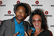 """Rapper Chingy and AOL digital prophet David """"Shingy"""" Shing pose at  Advertising Week 2015 AWXII at the Times Center Stage on September 29, 2015 in New York City."""