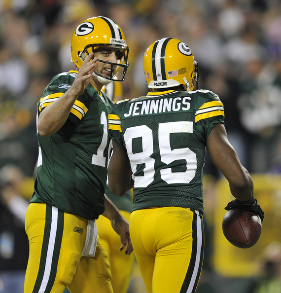 AARON RODGERS and Greg Jennings Photos - Minnesota Vikings v Green ...