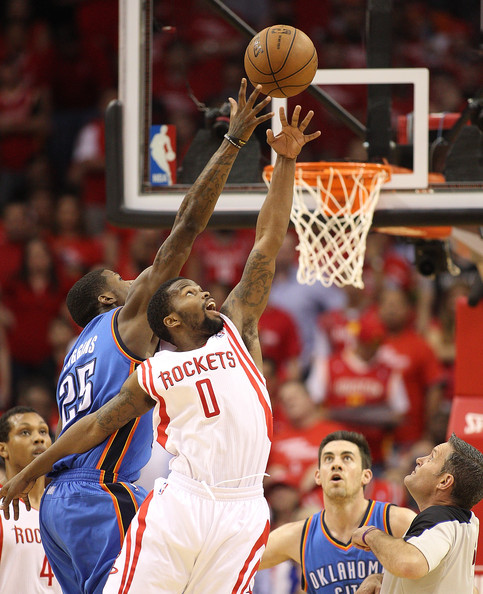 Houston Rockets Vs Okc: Aaron Brooks Deandre Liggins Photos