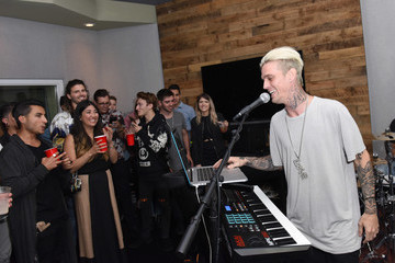 Aaron Carter TuneIn And Heard Well Host A Launch Party For Exclusive Station Heard Well Radio At TuneIn Studios