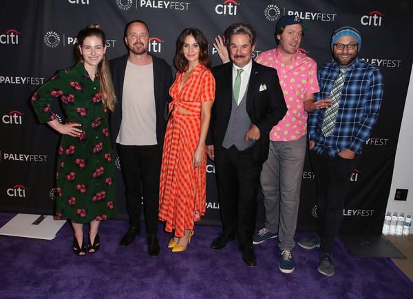 The Paley Center For Media's 2018 PaleyFest Fall TV Previews - Netflix - Arrivals [paleyfest fall tv previews,event,premiere,fashion,carpet,flooring,red carpet,performance,fashion design,arrivals,lisa hanawalt,aaron paul,raphael bob-waksberg,paul f. tompkins,mike hollingsworth,l-r,netflix,paley center for media]
