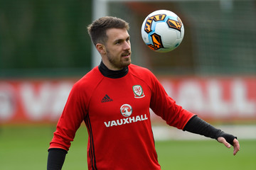 Aaron Ramsey Wales Training Session