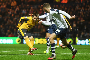 Aaron Ramsey Preston North End v Arsenal - The Emirates FA Cup Third Round