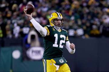 Aaron Rodgers Wild Card Round - New York Giants v Green Bay Packers