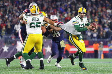 Aaron Rodgers Green Bay Packers vs. New England Patriots