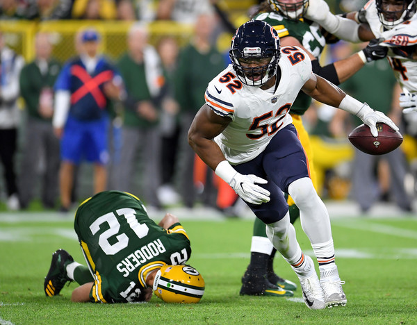 detailed look 7af21 b9b35 Aaron Rodgers and Khalil Mack Photos Photos - Chicago Bears ...