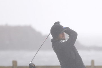 Aaron Rodgers AT&T Pebble Beach National Pro-Am - Preview Day 2