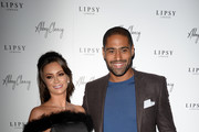 Glen Johnson and Laura Johnson attends the Abbey Clancy and Lipsy launch event on October 24, 2018 in London, United Kingdom.