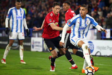 Abdelhamid Sabiri Huddersfield Town v Manchester United - The Emirates FA Cup Fifth Round