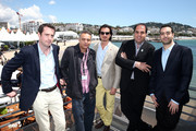 (L-R) Robin Colgan, Mohamed Hefzy, Ali F. Mostafa, Wayne Borg and Mohammed Al Turki attend Abu Dhabi Pavilion Event during the 66th Annual Cannes Film Festival on May 17, 2013 in Cannes, France.