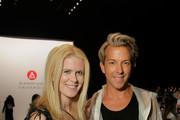 Alex McCord and Stylist Derek Warburton attends the Academy Of Art University Spring 2015 Collections during Mercedes-Benz Fashion Week Spring 2015 at The Theatre at Lincoln Center on September 6, 2014 in New York City.