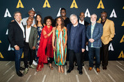 """(L-R) Peter Del Vecho, Marlon West, Bruce W. Smith, Quvenzhane Wallis, Jenifer Lewis, Anika Noni Rose, Michael-Leon Wooley, Randy Newman, Rob Edwards, Ron Clements and Keith David attend The Academy Celebrates """"The Princess And The Frog"""" 10th Anniversary at Samuel Goldwyn Theater on September 05, 2019 in Beverly Hills, California."""