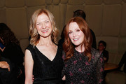 """AMPAS CEO Dawn Hudson and actress Julianne Moore attend The Academy of Motion Picture Arts and Sciences """"2019 New Members Party"""" at the Top of the Standard in New York on October 1, 2019 in New York City."""
