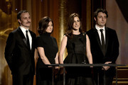 (L-R) Actors Nikola Djuricko, Vanessa Glodjo and Zana Marjanovic speak onstage during the Academy of Motion Picture Arts and Sciences' Governors Awards at The Ray Dolby Ballroom at Hollywood & Highland Center on November 16, 2013 in Hollywood, California.