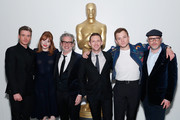 """(L-R) Actors Richard Madden, Bryce Dallas Howard, director Dexter Fletcher, actors Jamie Bell, Taron Egerton and producer Matthew Vaughn attend The Academy of Motion Picture Arts and Sciences official screening of """"Rocketman"""" at the MoMA, Celeste Bartos Theater on May 29, 2019 in New York City."""