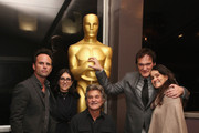 Walton Goggins, Stacey Sher, Kurt Russell, Quentin Tarantino and Shannon McIntosh attend The Academy Of Motion Picture Arts And Sciences Hosts An Official Academy Screening Of THE HATEFUL EIGHT on December 15, 2015 in New York City.