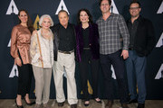 "(L-R) Carolyn Miller, Ellen Burstyn, William Friedkin, Sherry Lansing, Cedric Nairn-Smith, and Jack Friedkin arrive at the Academy's 45th Anniversary Screening Of ""The Exorcist"" at Samuel Goldwyn Theater on October 22, 2018 in Beverly Hills, California."