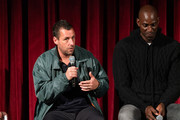 Adam Sandler and Kevin Garnett attend The Academy Of Motion Picture Arts & Sciences Hosts An Official Academy Screening Of UNCUT GEMS at MOMA - Celeste Bartos Theater on December 03, 2019 in New York City.
