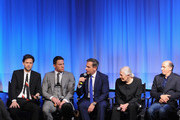 "(L-R) Moderator Nigel Smith, director/producer Bennett Miller, actor Channing Tatum, actor Steve Carell, actress Vanessa Redgrave, producer Jon Kilik and writer Dan Futterman attend The Academy of Motion Picture Arts and Sciences hosts an official academy members screening of ""Foxcatcher"" at The Academy Theatre at Lighthouse International on November 11, 2014 in New York City."