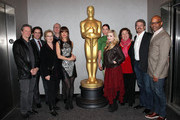 (L-R)Chris Cooper, Dermont Mulroney, Meryl Streep, Tracy Letts, Juliette Lewis, Julianne Nicholson, Margo Martindale, Abigail Breslin, John Wells and Patrick Harrison attend The Academy of Motion Picture Arts and Sciences Hosts an Official Academy Members Screening of 'August: Osage County' on November 25, 2013 in New York City.
